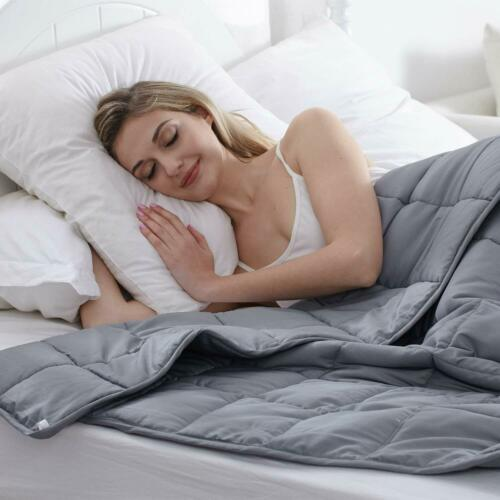 """Details about  /Waowoo  Weighted Blanket Queen Size(15lbs 60/""""x80/"""") Heavy Blanket with Premiu"""