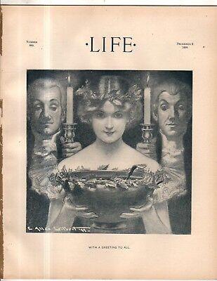 1899 Vida Navidad; Santa Claus ; Reina Victoria Dolls ; Kissing The Black Mujer