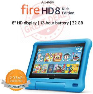 """All-new Fire HD 8 Kids Edition tablet, 8"""" HD display, 32 GB,10th gen 2020 - BLUE"""