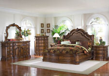 Queen Platform Bedroom Set   Bed, 2 Night Stands, Dresser