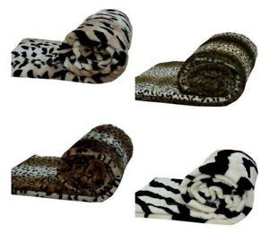Nuevo-lujo-piel-de-Vison-Animal-Printed-lanza-Super-Suave-Sofa-Cama-Manta-Cobertor