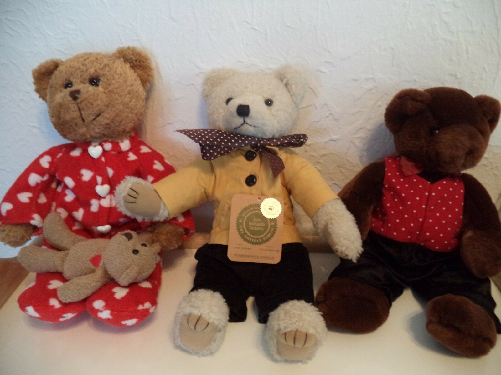 Three Old Teddy Bear made by Wang's International, Galleria & Commonwealth