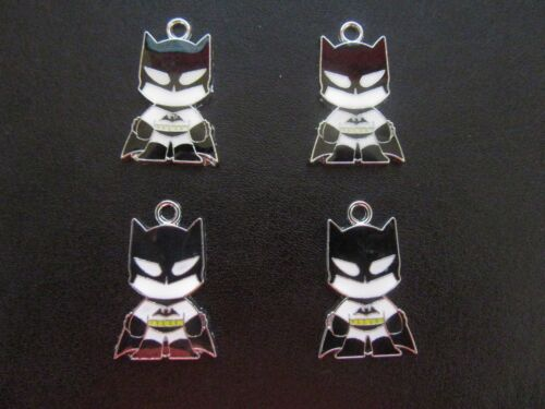 4 X BATMAN ENAMEL METAL PENDANTS CHARMS SPIDERMAN WOLVERINE IRON MAN AVAILABLE