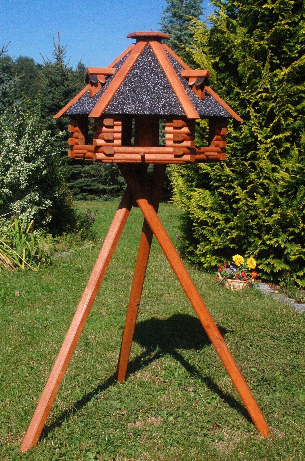 LUSSO XXL Casetta Casa mangime con supporto 70x45 cm v13s con tetto struttura intonaco