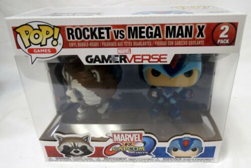 Funko Pop Gamerverse Rocket /& Mega Man X 2 Pack Vinyl Figure