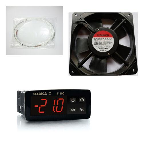 Ventilador Kit Incubadora Termostato Digital Osaka Resistencia Silicona 45W