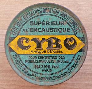 Ancienne-Petite-Boite-Publicitaire-Cybo-Superieur-a-l-039-Encaustique-Vintage