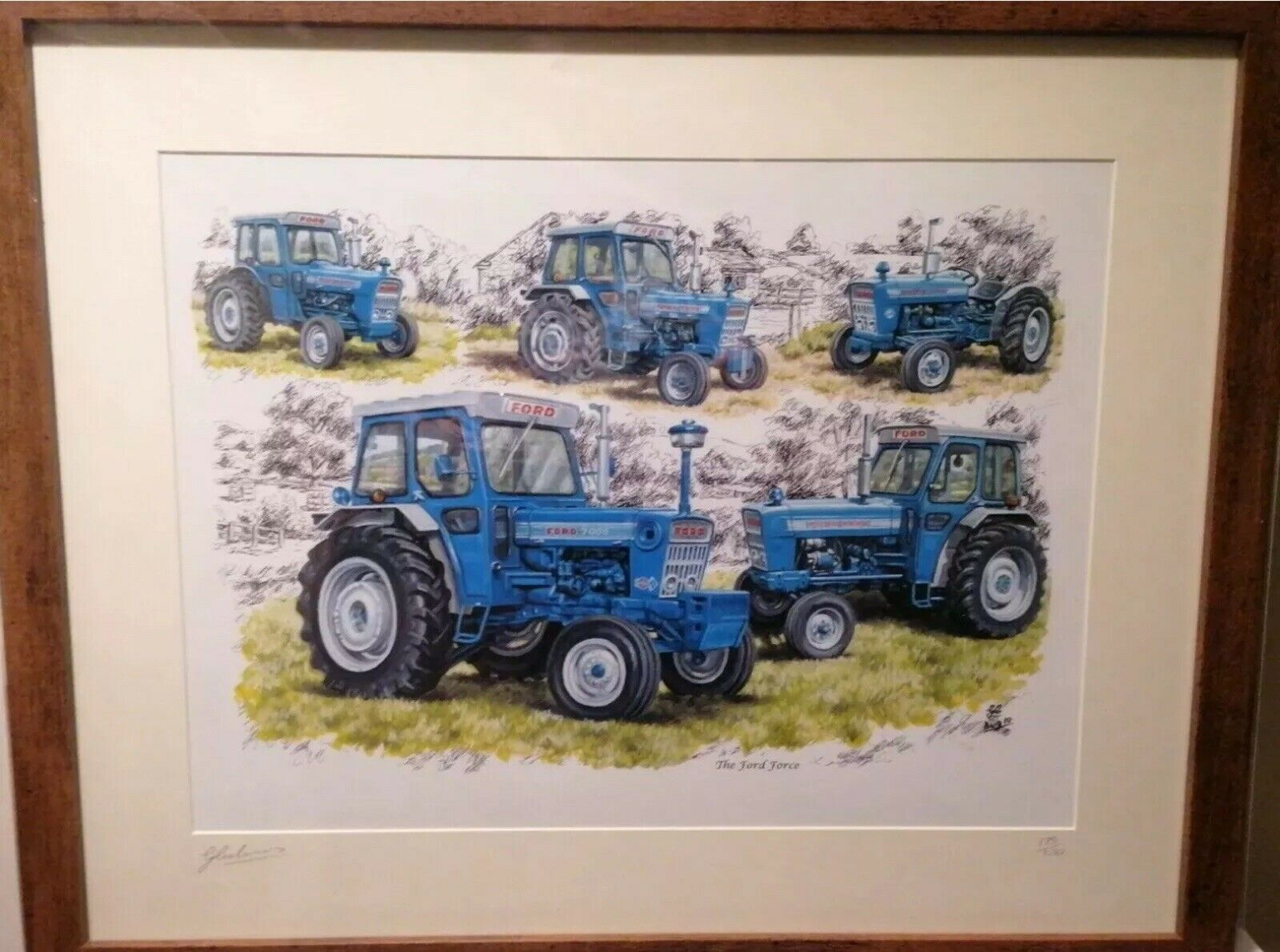 3 Picture Prints Deal A4 Size David Brown Marshall Leyland Ford Force Tractors