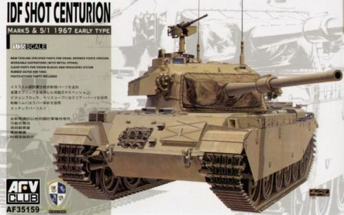 1 35 AFV Club IDF Shot Centurion Mk.5 and 5 1 1967 Early Type