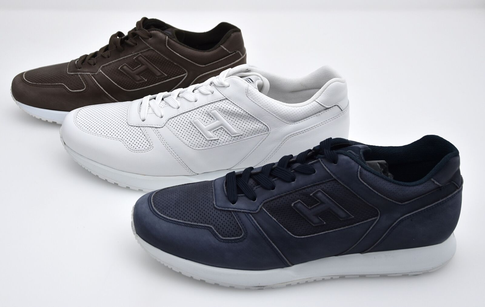 HOGAN H321 MAN SNEAKER SHOES CASUAL FREE TIME LEATHER CODE HXM3210Y120