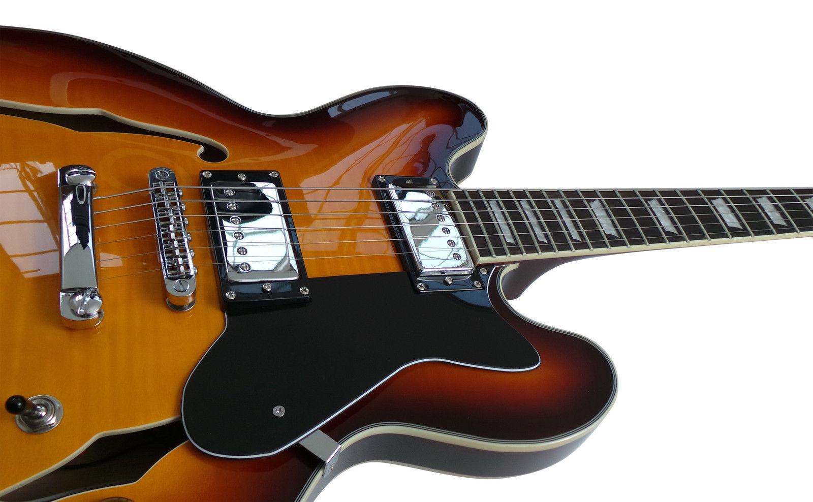 ES335 Semi Guitarra Eléctrica Jazz azuls país HasGuitar HasGuitar HasGuitar RH 4 4 Completo  Vuelta de 10 dias