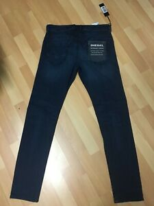 NWD-da-Uomo-DIESEL-thommer-Stretch-Denim-0686A-DARK-BLUE-SLIM-W30-L31-H6-RRP-160