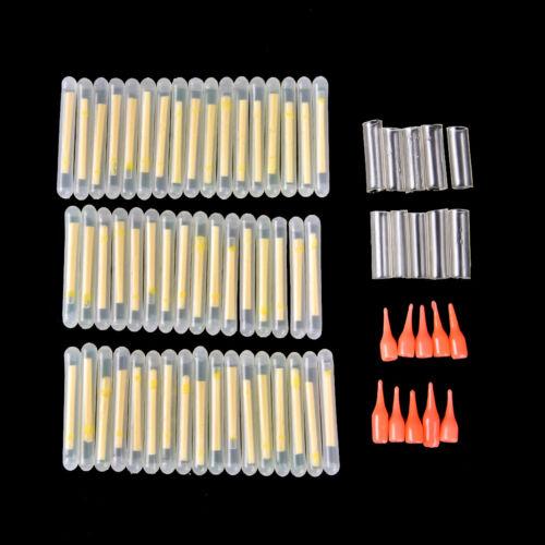 25pcs//50pcs 4.5*39mm Glowing Fluorescent 30M Luminous Float Night Fishing Floats