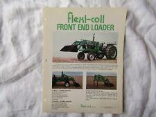 Flexi Coil Front End Loader Specification Sheet Brochure