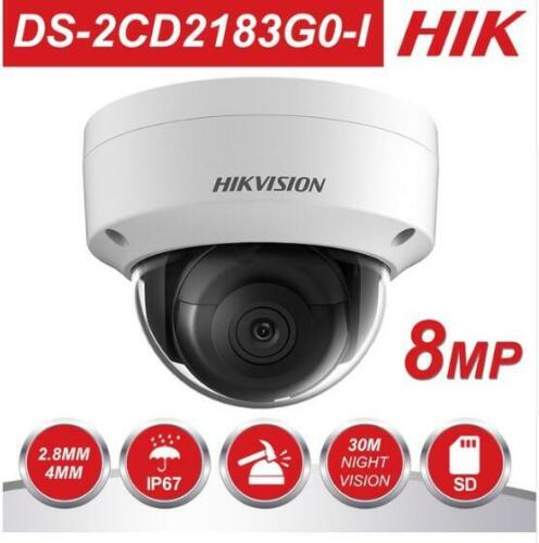 Hikvision DS-2CD2183G0-I 4K 8MP IR WDR IP Dome Camera IP67 H.265 Card Slot