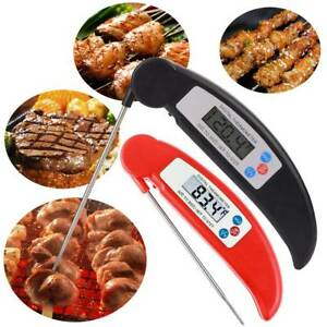 Details About Instant Read Digital Food Meat Thermometer For Turkeys Kitchen Cooking Bbq Grill