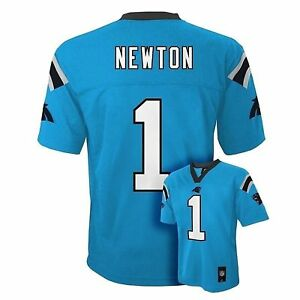 new style 8a256 fc977 Details about Cam Newton Carolina Panthers KIDS PRESCHOOL Mid Tier Blue NFL  Jersey(Size 4-7)