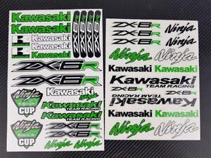 Details Zu Zx 6r Ninja Motorrad Aufkleber Blatt Stickers Kawa Helme Zx6r Grun Laminiert
