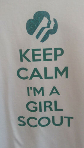 Girl Scout Shirt Cookies White Keep Calm Girl Scout Girls Small 6//6x