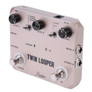 rowin ltl 02 twin looper record electric guitar effect pedal loop true bypass 664151952474 ebay. Black Bedroom Furniture Sets. Home Design Ideas