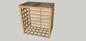 kaminholzregal brennholzregal unterstand regal f r brennholz massiv aus holz ebay. Black Bedroom Furniture Sets. Home Design Ideas