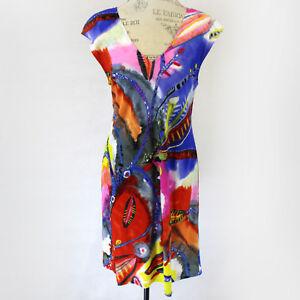 NEW-Jams-World-Sherry-Dress-Secret-Crush-Print-Sundress-Large-Made-in-USA