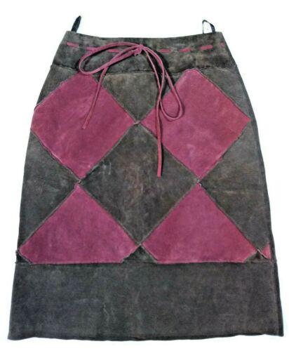 Bagatelle Leather Mini-Skirt, Size 6