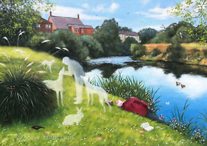Signed-039-Giclee-039-print-direct-from-Steve-Sanderson-Northern-Art-Lost-Companion