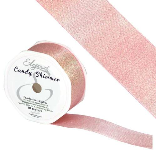 Candy Shimmer Metallic Iridescent ribbon 38mm wide price per metre