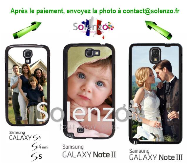 Coque case Samsung S4, S4 mini, S5, Note 2, 3, S6, personnalisée avec photo
