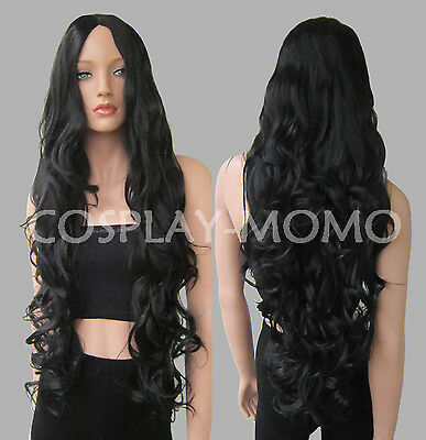 90cm Long Big Wavy Heat Resistant Curly Cosplay Full Wig 11 Color Free shipping