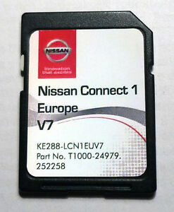 sd card latest map europe for nissan connect 1 lcn1 v7 ke288 lcn1euv7 2016 2017 ebay. Black Bedroom Furniture Sets. Home Design Ideas