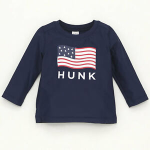 22255caa26ca5 CARTER'S Baby Boy Navy Blue HUNK Rash Guard Swim Beach Top Sz 3 ...