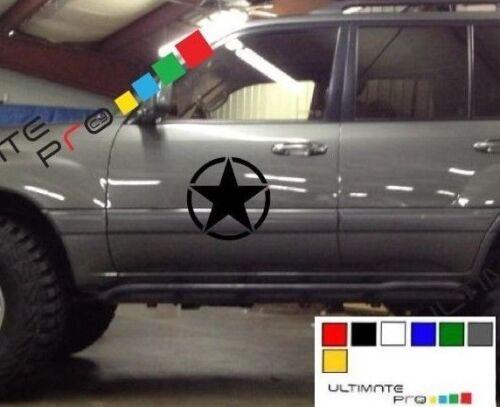 Decal sticker for Toyota FJ Cruiser Military hood bonnet panel grill bar axle