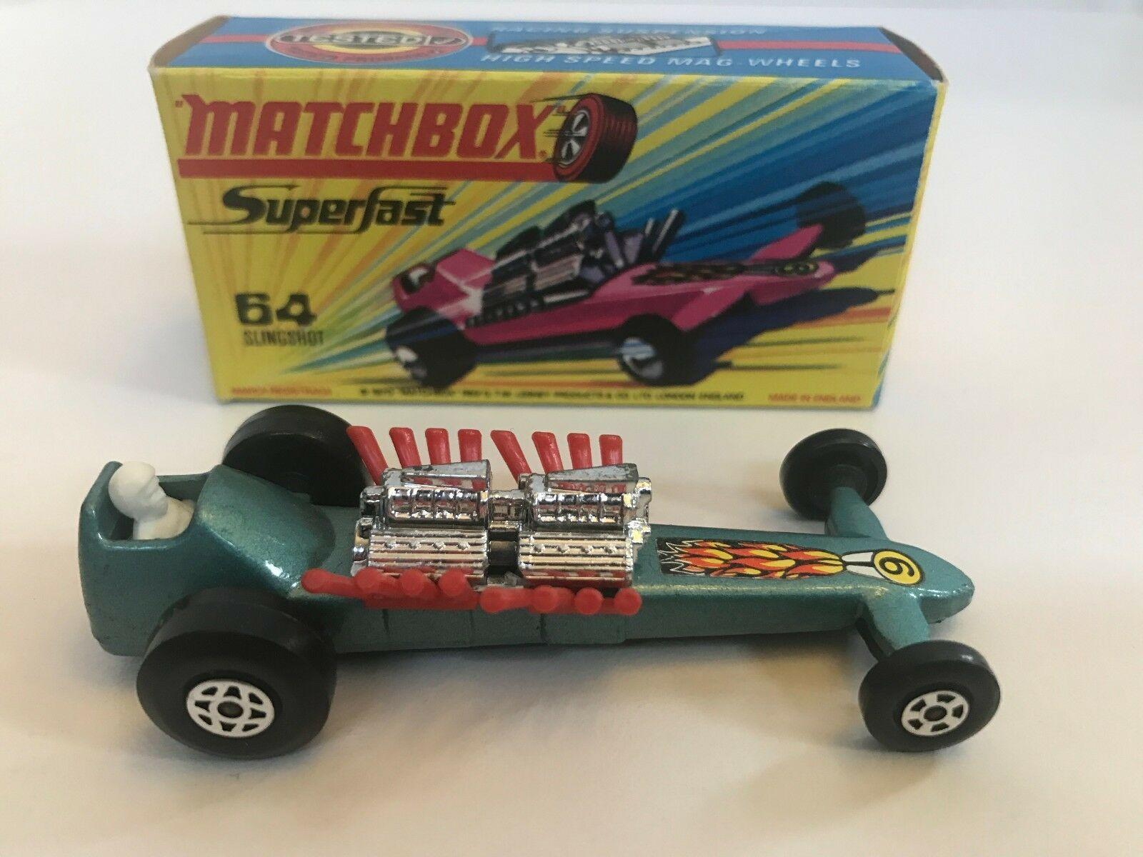 Matchbox Lesney 1971 Slingshot Dragster In Mint Condition, New Mint Box