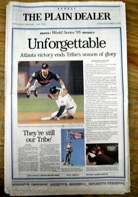 /<1996 headline newspaper NY YANKEES win baseball WORLD SERIES vs Atlanta Braves