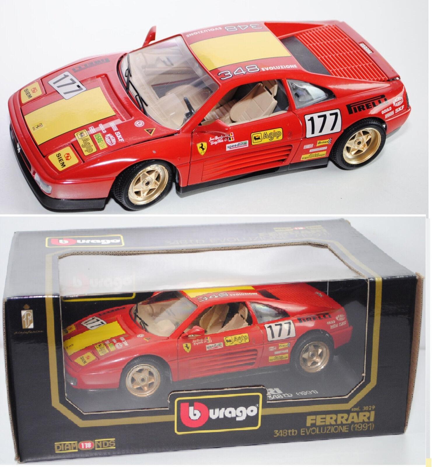 Bburago 3029 Ferrari 348 to Evoluzione, rouge CORSA (Rouge), Nº 177, 1 18