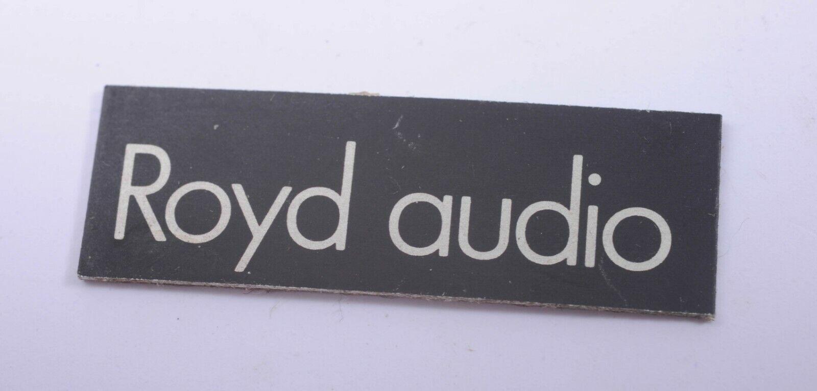 Replacement Royd Audio Speaker Badge