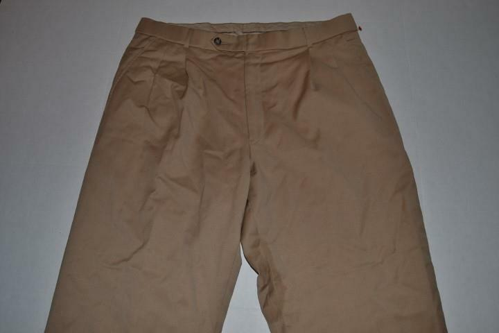 BALLIN CLASSIC SUPER 120 BROWN TAN DRESS PANTS MENS SIZE 36 X 28