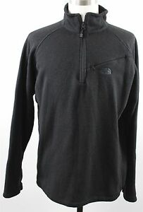 MINT-The-North-Face-1-4-Zip-Fleece-Pullover-Sweater-MENS-LARGE-Black-Polyester