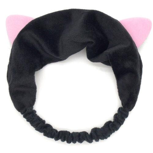 Cute Cat Ear Headband Casual Party Makeup Hairband Soft Velvet Hair Accessories