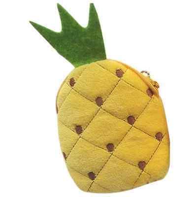 Süße Kosmetiktasche Erdbeere Stoff Ananas Frucht Tasche Damen Style gelb rot