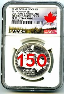 2017-CANADA-1-SILVER-DOLLAR-NGC-PF70-UCAM-RED-150TH-ANNIVERSARY-FIRST-RELEASES