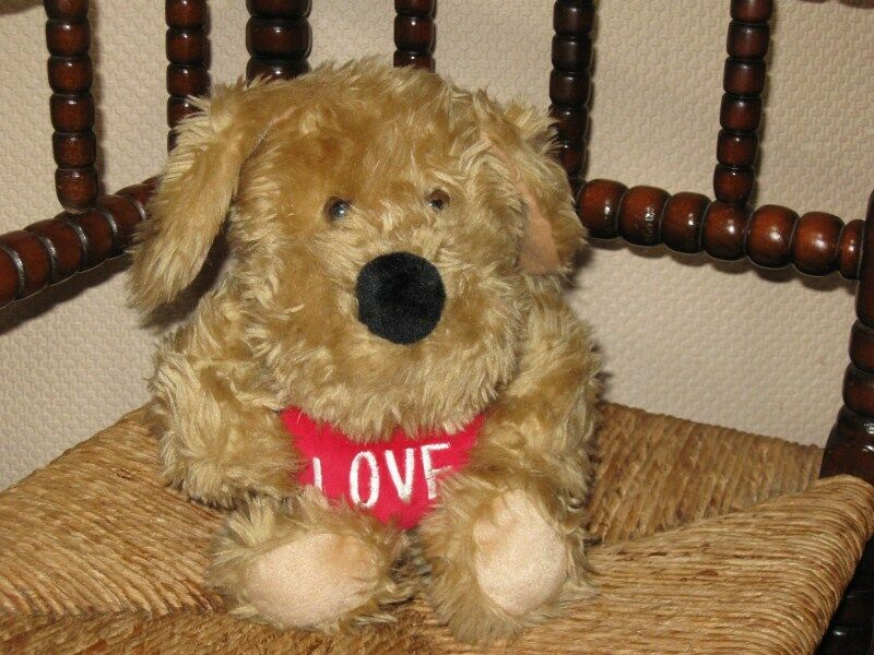 Dutch Highlite Valentine Puppy Dog Plush Toy with Love Heart