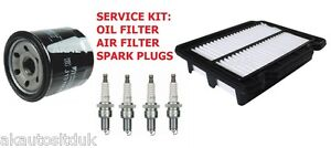 CHEVROLET AVEO 1.4 OIL AIR  SPARK PLUGS SERVICE FILTERS KIT 2011 ON