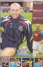 WEST HAM: DEAN ASHTON SIGNED A4 (12x8) MAGAZINE PICTURE+COA