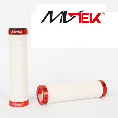 """Pair Knobs /""""MV-TEK/"""" Lock White//Red for Bike 20-24-26 graziella"""