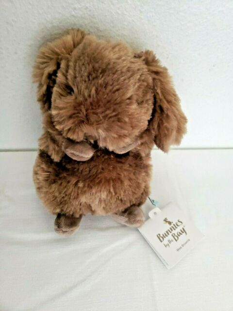 Bunnies By The Bay Wee Brownie Bunny Rabbit Plush Stuffed Animal Small Brown