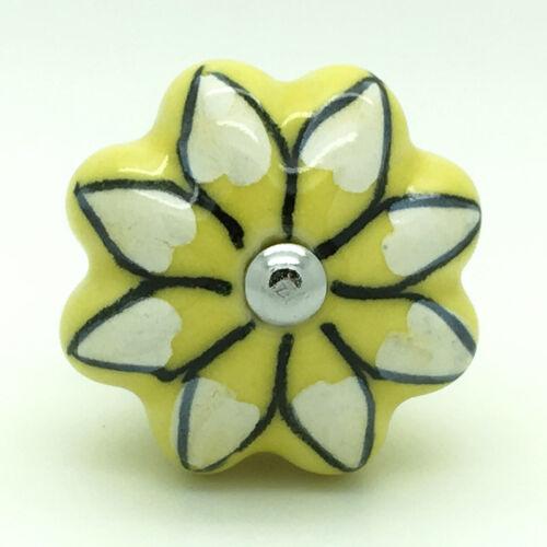 Melon Ceramic Door Knobs Porcelain Kitchen Door Handles Cupboard Pull Handles