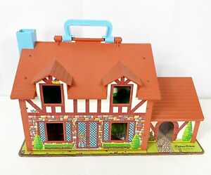 Fisher-Price-Vintage-Little-People-Play-Family-House-Tudor-952